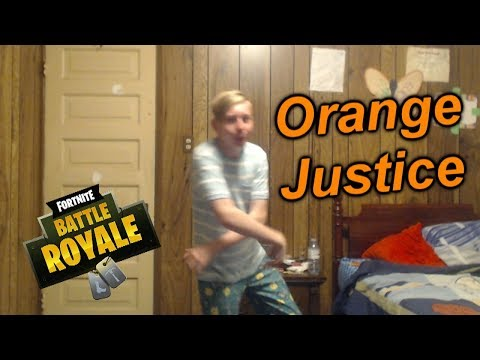 HOW TO DO THE ORANGE JUSTICE DANCE MOVE FROM FORTNITE!! (Orange Shirt Kid & Fortnite Version)