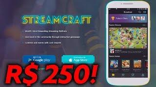 Ganhei R$ 250 Reais Ao VIVO! Quanto Eu Ganho com Youtube? Vamos Jogar no StreamCraft!