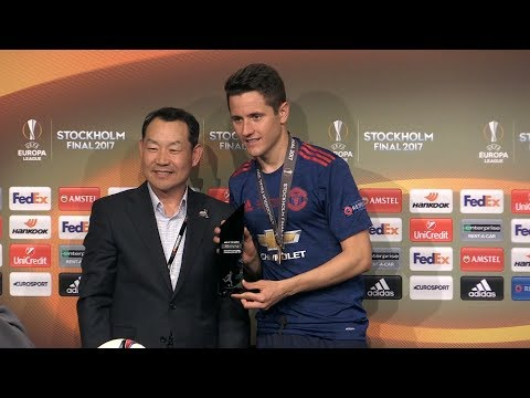 Ander Herrera Press Conference - Collects Man Of The Match Award - Man United Win The Europa League
