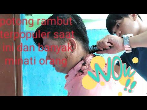 Potong Rambut Pria Belah Samping