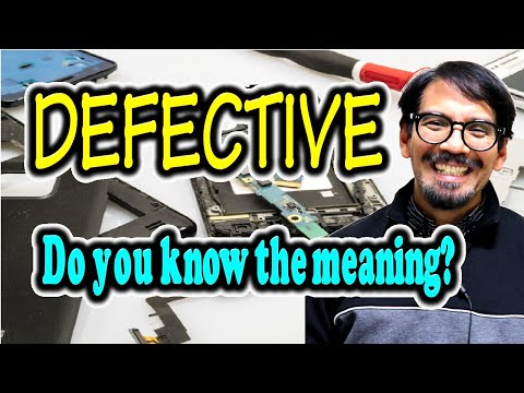 "Meaning of ""DEFECTIVE"" [ ForB English Lesson ]"