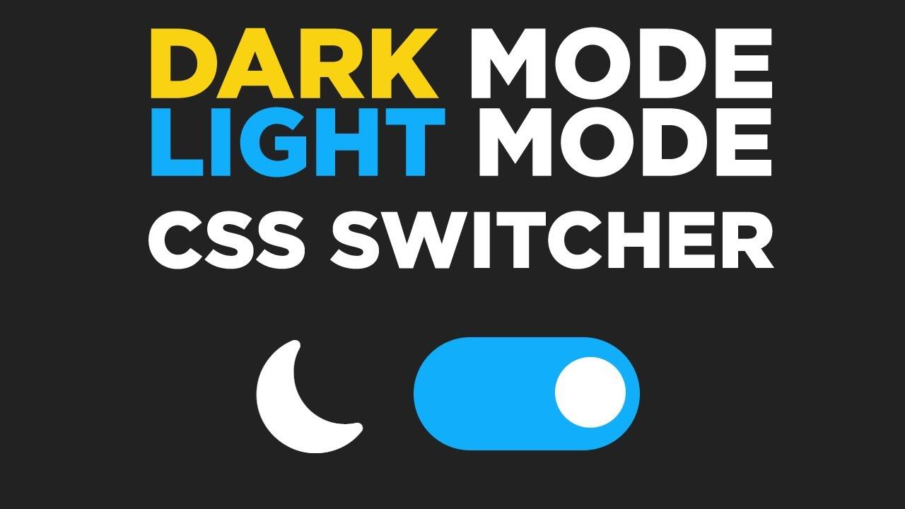CSS and JavaScript Light/Dark Theme Toggle - #69