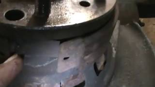 Parking brake cable removal