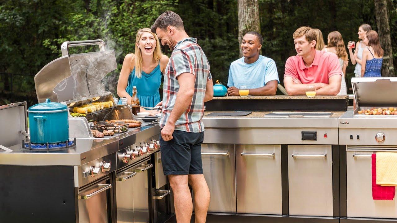 modular outdoor kitchen prefab charbroil modular outdoor kitchen product walkthrough youtube