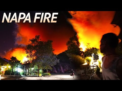 EVACUATED due to Napa Wild Fire..