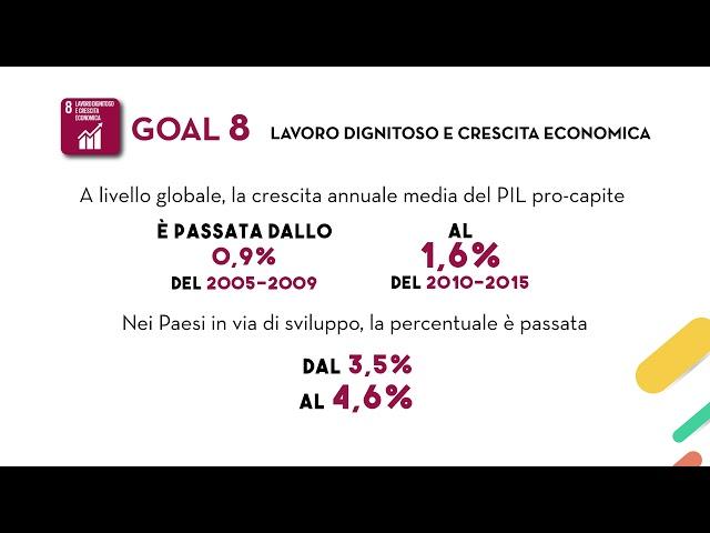 SDG's Goal 8: Lavoro dignitoso e crescita economica