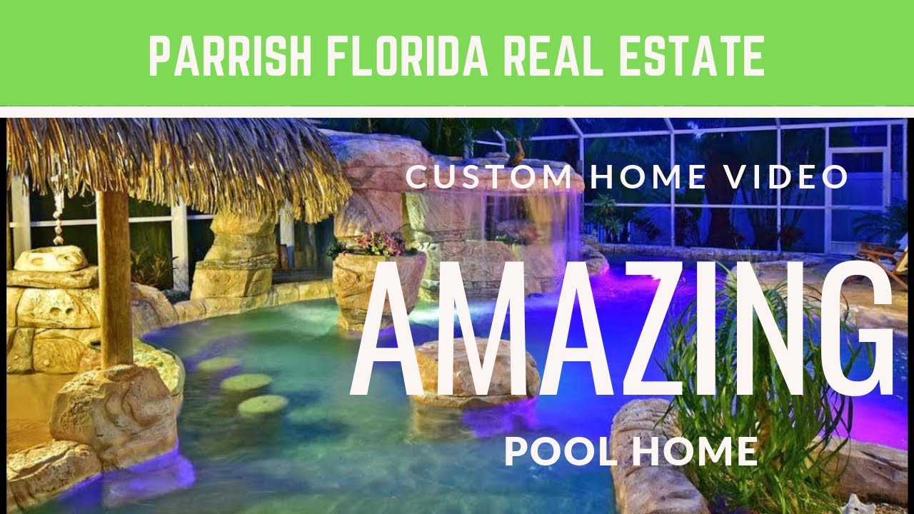 Stunning custom pool home in parrish florida sold for Florida pool homes