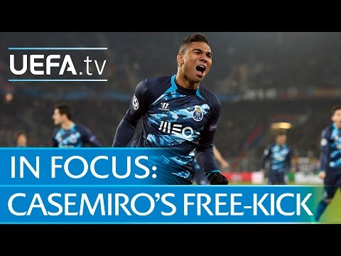 Porto's Casemiro on Basel free-kick