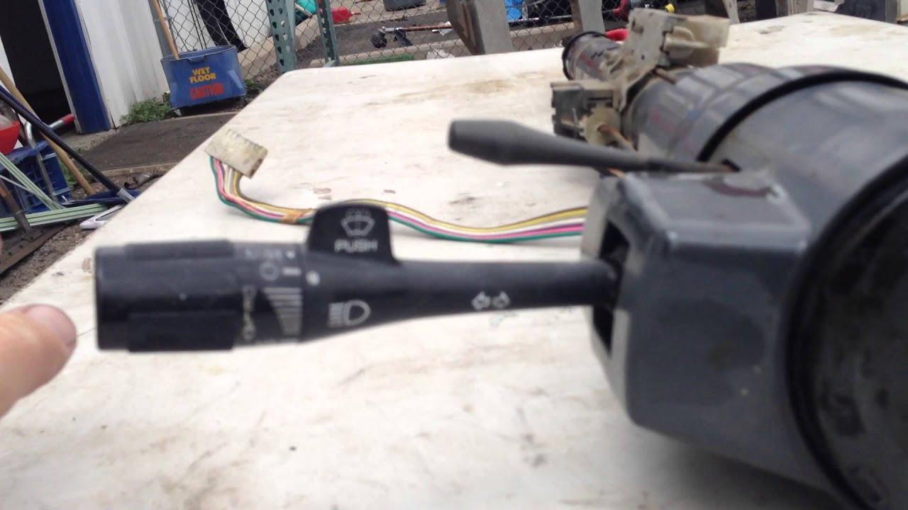 87 95 jeep wrangler yj grey tilt steering column [ 1280 x 720 Pixel ]