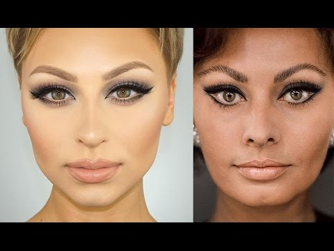 Sophia Loren Cat Eye Makeup Tutorial