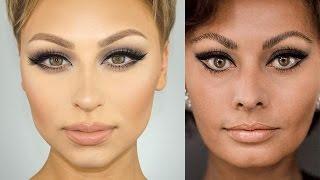 Sophia Loren Cat Eye Makeup Tutorial | Alexandra Anele