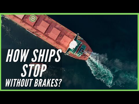 How Ships Stop In Water Without Brakes? I Crash Stop Manoeuver I Ship Emergency Stop Using Anchor ⚓️
