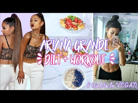 Trying ARIANA GRANDES Diet & Workouts ! I ATE VEGAN