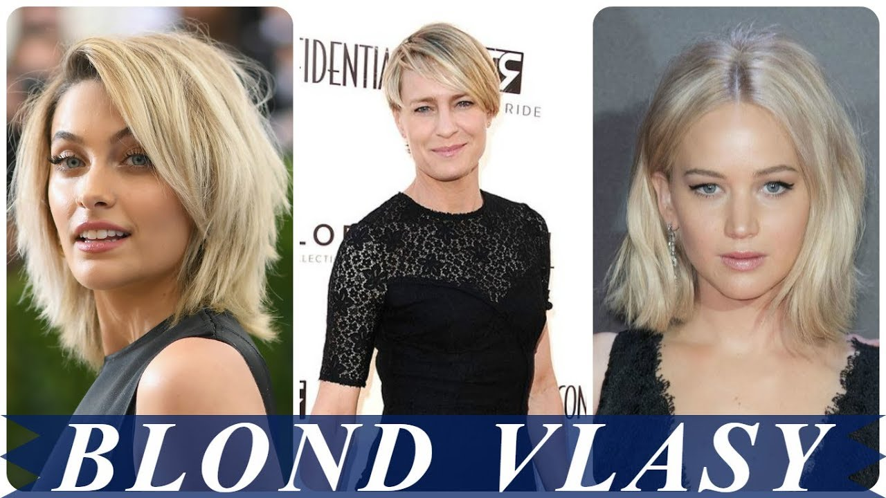 kratke blond vlasy