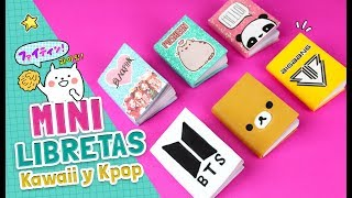 DIY ☆ Como hacer MINI LIBRETAS con solo una HOJA DE PAPEL ¡Super fáciles! 6 IDEAS ♥ l Fabbi Lee