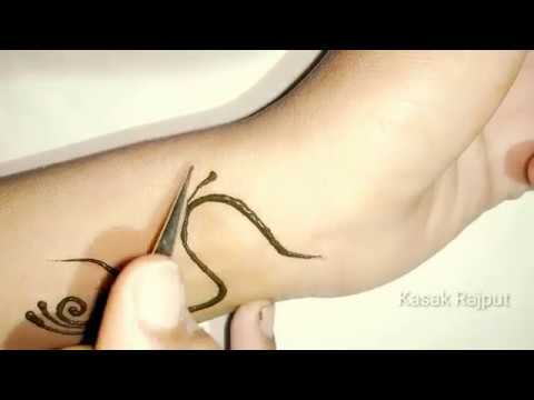 S letter tattoo mehndi design | S Alphabet mehndi design for wrist