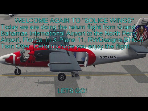 X-Plane 11 MYGF Grand Bahama Intl to KHWO North Perry Airport, FL