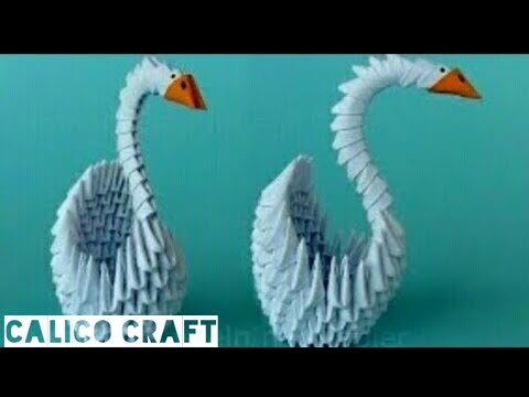 Paper swan craft/Origami swan craft/3D swan craft/Paper swan make step by step/Easy swan craft/DIY