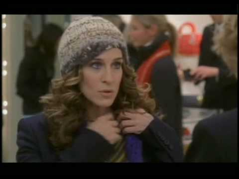 SATC Deleted Scene-Carrie looks for her necklace in Dior