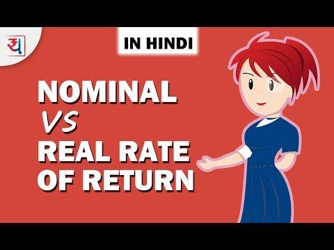 Nominal vs Real Rate of Return in Hindi   Inflation से Rate of Return  पे क्या असर पड़ता है?