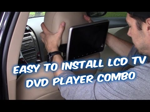 Easy way How to install universal car seat Headrest DVD TV monitor gaming system