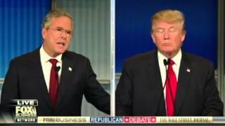 Жесткие дебаты Трампа с Бушем на ТВ в США (с переводом)