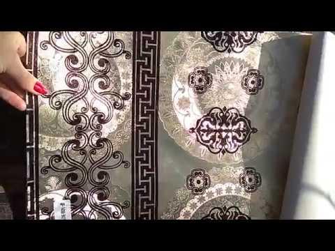 Клеенка на тканной основе шелкография золото/серебро Бона Домус
