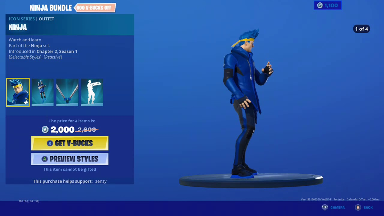 Fortnite Item Shop *New* NINJA BUNDLE! [May 21st, 2020 ...