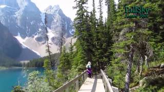 Virtual Hike: Moraine Lake (actual sound) Banff National Park, Alberta 18min (#1A)