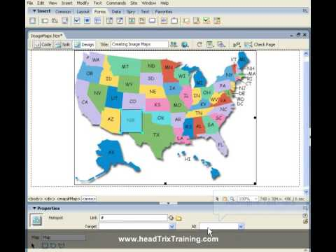 Dreamweaver Training Tutorial   Creating Image Maps   Dreamweaver     Dreamweaver Training Tutorial   Creating Image Maps   Dreamweaver Training  in LA or Live Online   YouTube