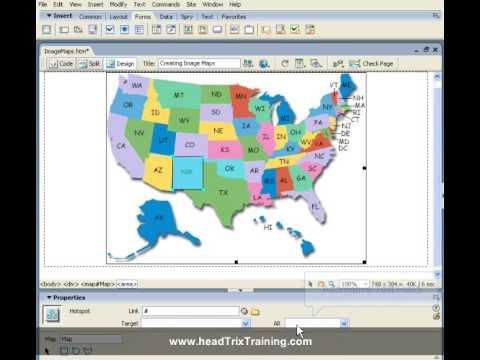 Dreamweaver Training Tutorial - Creating Image Maps | Dreamweaver Training In LA Or Live Online
