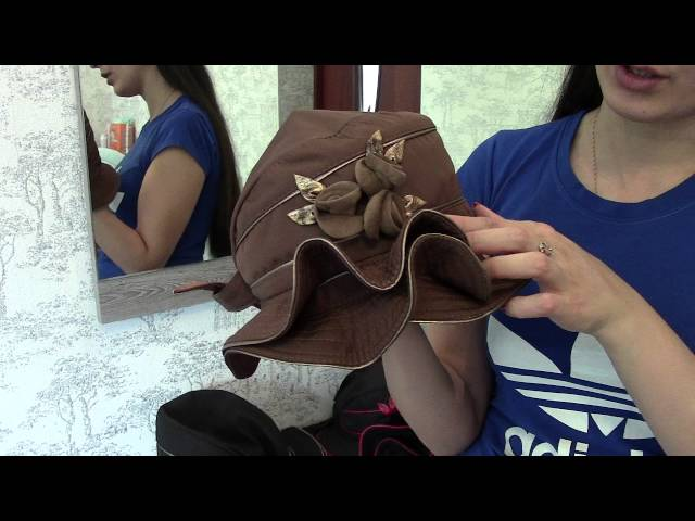 Шляпа, Розетта Коричневая