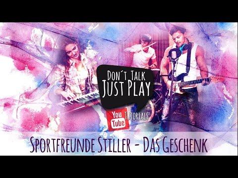 SPORTFREUNDE STILLER - DAS GESCHENK - Gitarrentutorial-Lyricsvideo+Chords+Tabs+GuitarPro