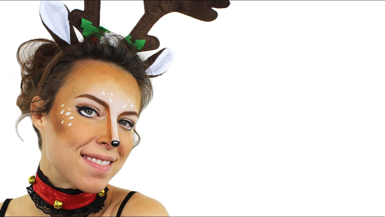 Uncategorized Rudolph Face Painting reindeer face paint tutorial youtube