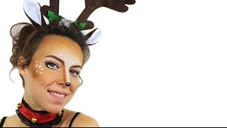 Reindeer Face Paint Tutorial