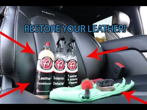 How to Clean and Condition Leather Seats Like A Pro !!   (1000 Subscriber GIVEAWAY!)