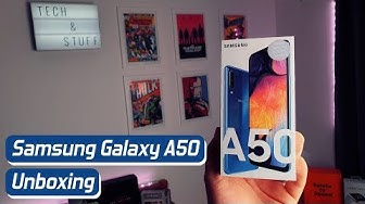 Samsung Galaxy A50 unboxing