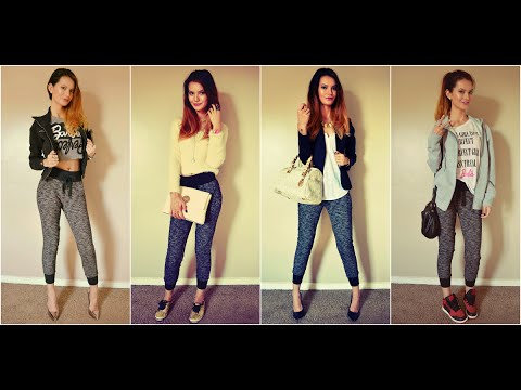 How To Style Jogger Pants Fashion Lookbook 2014 Youtube
