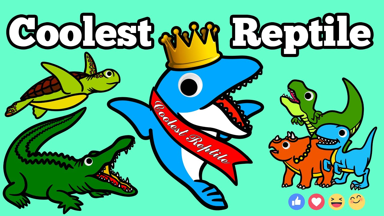 Mosasaurus meets Cool Modern Reptiles! | Dinosaur Animation for Children ft. Crocodile, Sea Turtle