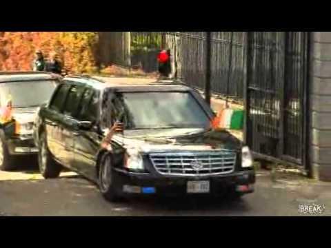 Siêu xe chở Tổng thống Obama bị sập gầm.flv