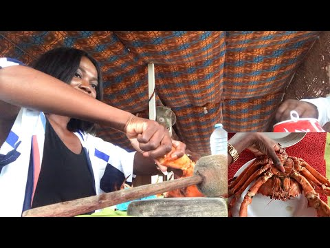 Biggest Crab I've Ever Seen || Santola In Sao Tome