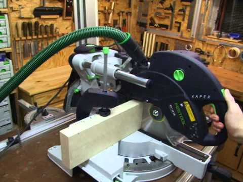 sonderkappstellung an der festool kapex ks 120 eb youtube. Black Bedroom Furniture Sets. Home Design Ideas