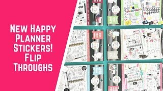 New Happy Planner Stickers at Michaels! Flip Throughs
