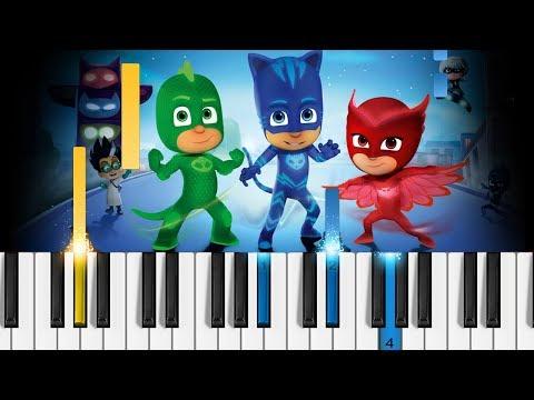 PJ MASKS Theme Song - Piano Tutorial / Piano Cover