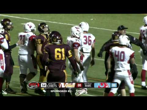 (11/06/15) Moses Lake vs West Valley Football