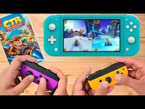 Crash Team Racing Nitro Fueled Nintendo Switch Lite Gameplay