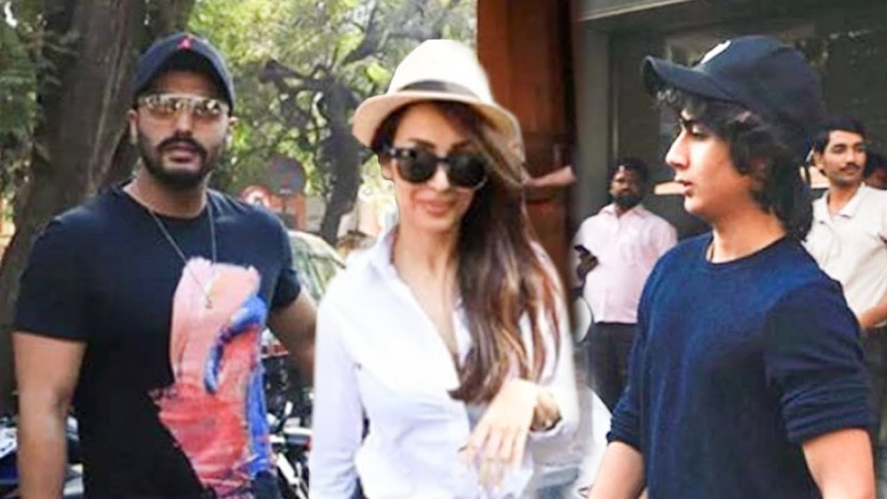 Arjun Kapoor Walks Hand-In-Hand With Girlfriend Malaika Arora And Her Son Arhaan Khan