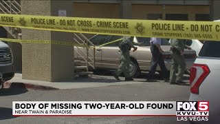 Body of 2-year-old Amari Nicholson found, Las Vegas police say