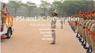 Preparation For PSI and PC (Karnataka State Police)