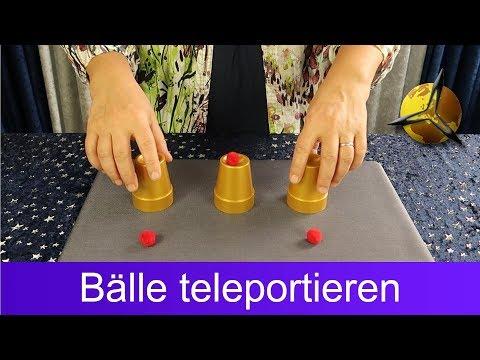 Zaubertricks lernen: Bälle teleportieren